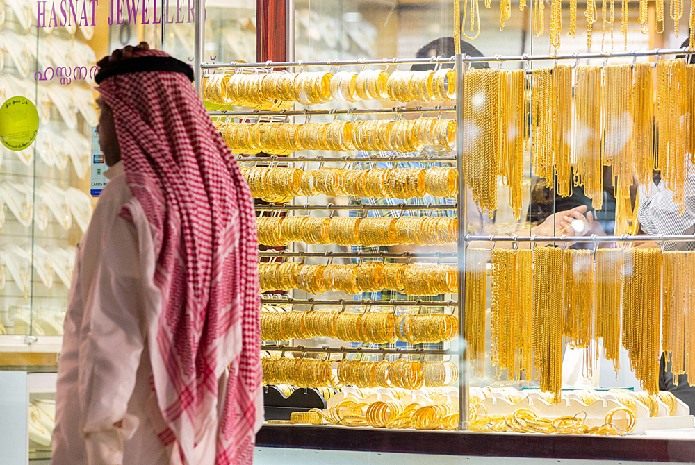 Retail Trade Inside Dubai's Gold Souk