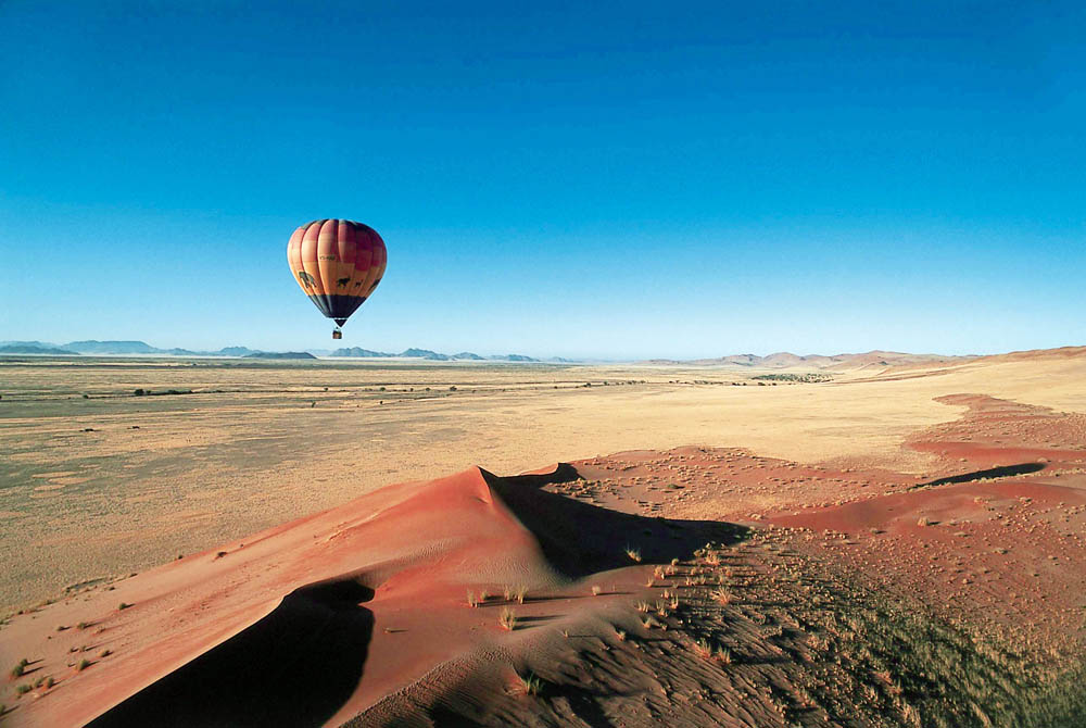 Hot Air Balloon; Namibia Copyright Wilderness Safaris -CLEAN-