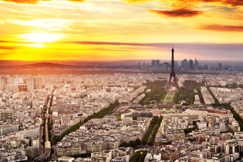 Paris Wide Desktop Background