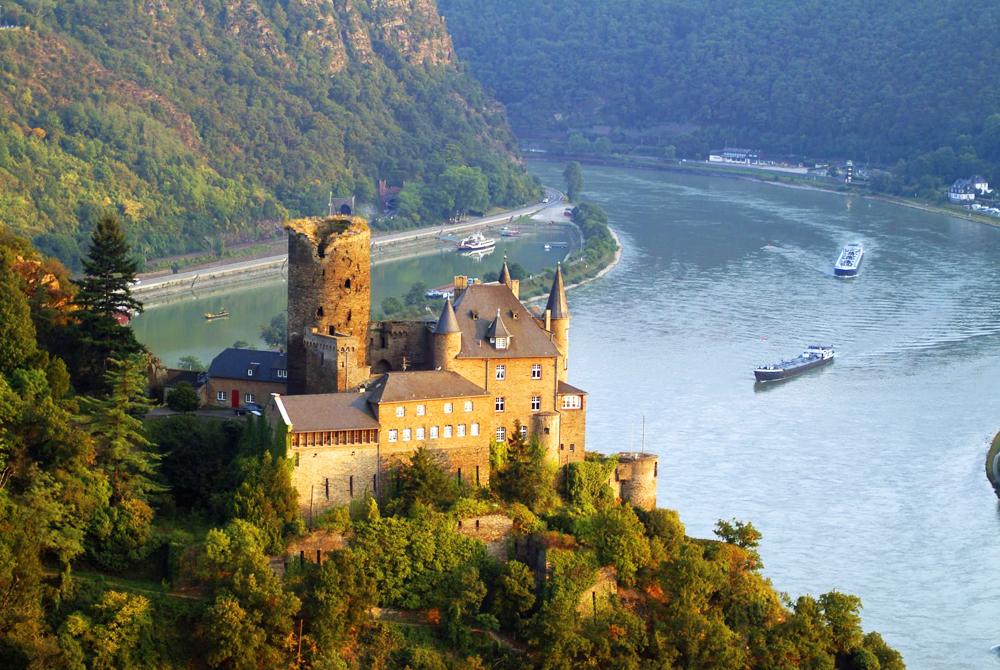 Katz Castle, St. Goarshausen, Rhine River, Hessen, Germany